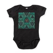 rustic bohemian damask pattern Baby Bodysuit