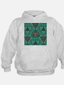 rustic bohemian damask pattern Hoodie
