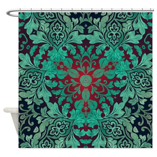 Rustic Bohemian Damask Pattern Shower Curtain By ADMIN