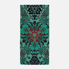 rustic bohemian damask pattern Beach Towel