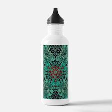 rustic bohemian damask Water Bottle
