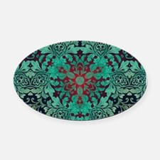 rustic bohemian damask pattern Oval Car Magnet