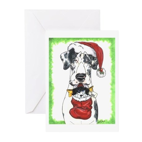 May all your wishes.. Gt Dane Xmas Cards (10 Pk)