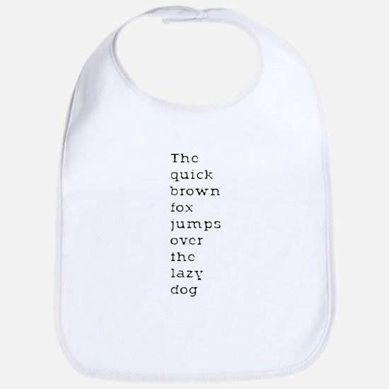 The Quick Brown Fox Bib