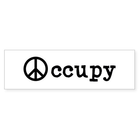 "Peaceful Occupy 10x3"" Bumper Sticker"