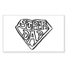 Super Dad Rectangle Decal
