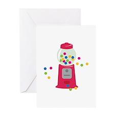 Bubble Gum Machine Greeting Cards