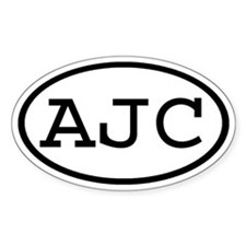 AJC Oval Oval Decal