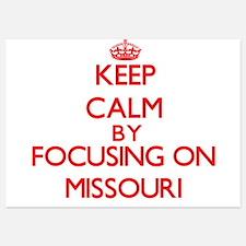 Keep Calm by focusing on Missouri Invitations