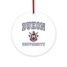 DUHON University Ornament (Round)