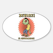 Chupacabron Oval Stickers