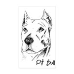 Pit Bull Rectangle Sticker