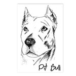 Pit Bull Postcards (Package of 8)