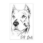 Pit Bull Mini Poster Print
