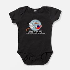 stork baby filip white 2.psd Baby Bodysuit