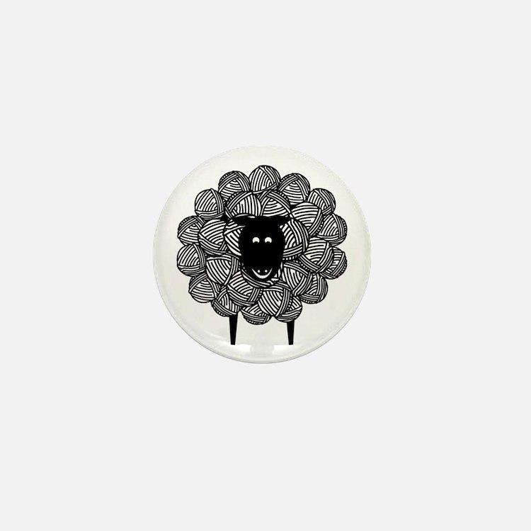 Yarny Sheep Mini Button