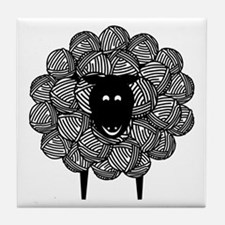 Yarny Sheep Tile Coaster