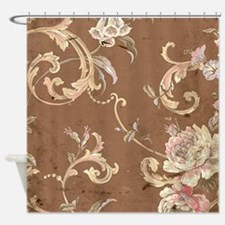 Funny Beige Shower Curtain