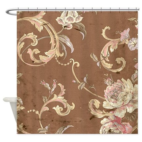 Cute Earth Tone Shower Curtain