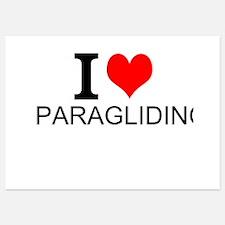 I Love Paragliding Invitations