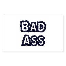 Bad Ass Rectangle Decal