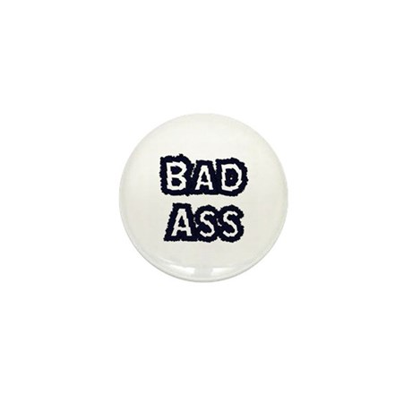 bad ass mini button by warpedgraphics. Black Bedroom Furniture Sets. Home Design Ideas
