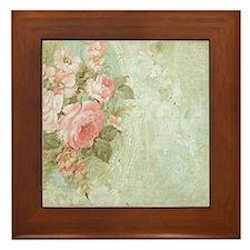 Cute Roses Framed Tile