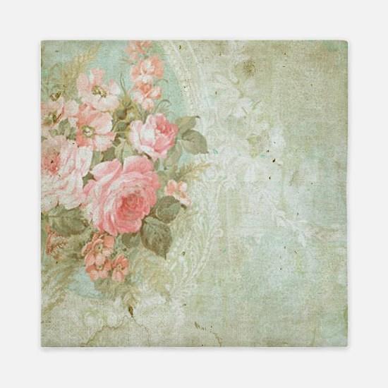 Cool Floral Queen Duvet