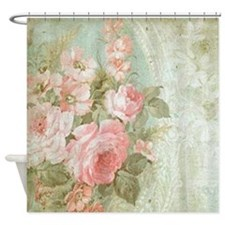Cute Pink green Shower Curtain