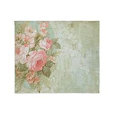 Cute Floral Throw Blanket