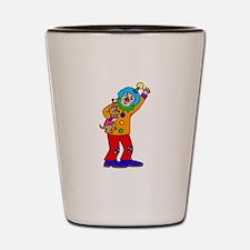 funny clown Shot Glass