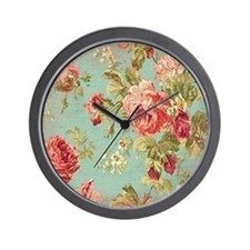 Cute Floral Wall Clock