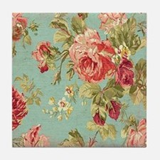 Cute Floral Tile Coaster