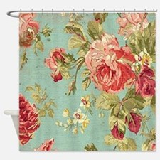 Unique Pink floral Shower Curtain