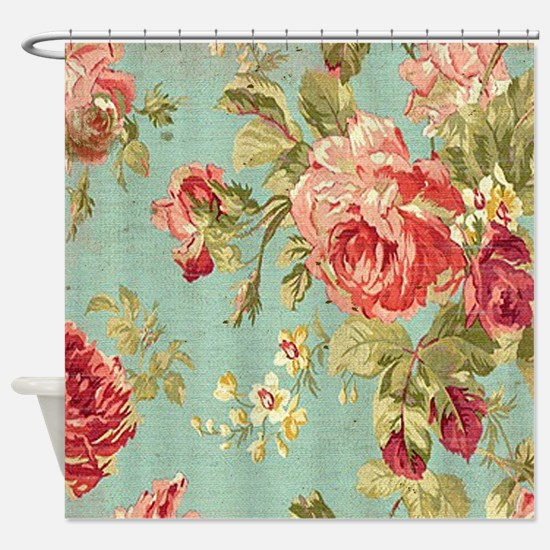 Funny Floral Shower Curtain