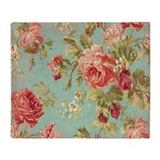 Funny Floral Throw Blanket
