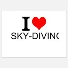 I Love Sky-Diving Invitations