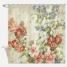 Funny Pink floral Shower Curtain