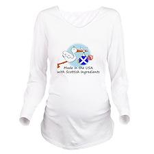 stork baby scot 2.ps Long Sleeve Maternity T-Shirt