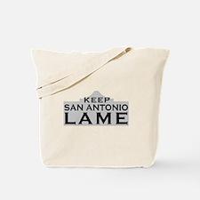 Keep San Antonio Lame Tote Bag