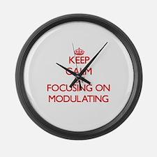 Keep Calm by focusing on Modulati Large Wall Clock