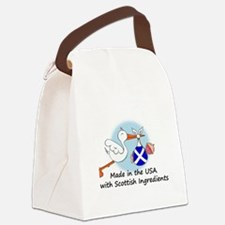stork baby scot 2.psd Canvas Lunch Bag