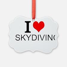 I Love Skydiving Ornament