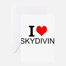 I Love Skydiving Greeting Cards