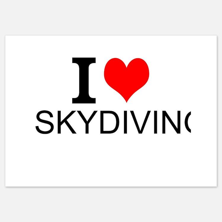 I Love Skydiving Invitations