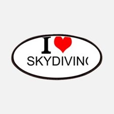 I Love Skydiving Patches