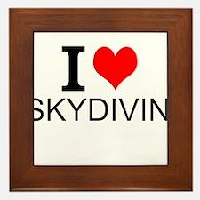 I Love Skydiving Framed Tile