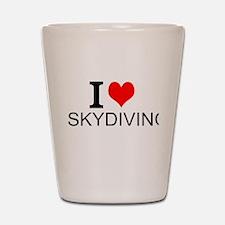 I Love Skydiving Shot Glass