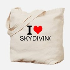 I Love Skydiving Tote Bag