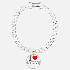 I Love Skydiving Bracelet